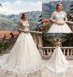two piece sweetheart line wedding dress 2019 - Two Pieces Detachable Bodice A-Line Lace Wedding Dresses Tulle Applique Lace Vintage Sweetheart Wedding Dress Bridal Gow