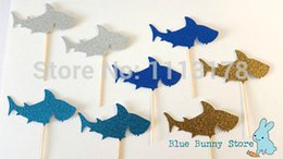 $enCountryForm.capitalKeyWord Canada - Custom personality Glitter Cupcake Toppers Food Picks Bachelorette Sharks Ocean Fish Nautical Wedding Bridal Engagement Party decorations