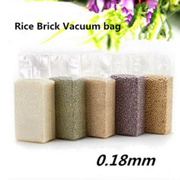 wholesale stand up pouch 2019 - 9x3x25cm Stand Up Vacuum Food Saver Storing Packaging Clear Plastic Bags Snacks Dry Fruit Beans Rice Tea Package Heat Se