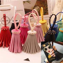 $enCountryForm.capitalKeyWord Canada - Wholesale - New multi color phone pendant hand made pendant female bag pendants Keychains Jewelry pendant CA022