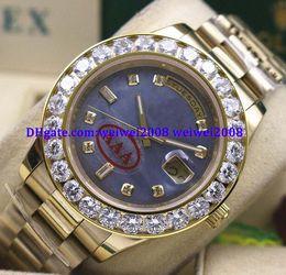 $enCountryForm.capitalKeyWord Australia - Luxury watch +gift box 18k Yellow Gold Blue Dial 41 MM President Day-Date 18038 Bigger Diamond Bezel Mechanical Men Watches