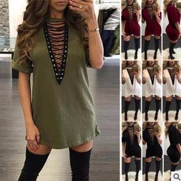 eb0091ac4017f Black V Neck T Shirt Dress Canada - Hot Selling Dresses for Women Clothes  Fashion 2017