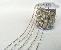Crystal Chips NZ - Natural Stone Crystal Chips Jewelry Finding Necklace Chains,Gold Color DIY necklace bangle jewelry making LZ22