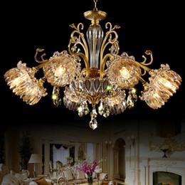 $enCountryForm.capitalKeyWord Canada - Chandelier European style luxury vintage copper chandeliers lighting brass chandelier led pendant lamp bedroom hotel lobby villa