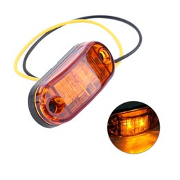China 2 LED Auto Car Truck Trailer Caravan Side Marker Light Clearance Lamp 12V 24V 100% Brand New High Quality suppliers