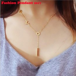 $enCountryForm.capitalKeyWord Canada - Chain Necklace Rose Gold Gold Silver Nurse Bijoux Collier Femme Heartbeat Love letter Necklaces Mujer free shipping