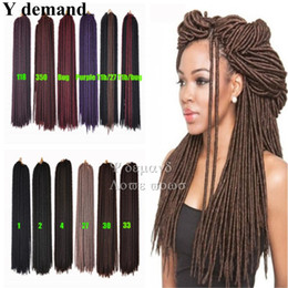 "Purple Kanekalon Braiding Hair Canada - One Pack 100g 18"" Burgundy Color 100% Kanekalon Crochet Twist Braids Synthetic Soft Dread Locks Faux Locs Braid Hair Extensions"