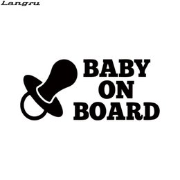 $enCountryForm.capitalKeyWord NZ - Cool Graphics Baby On Board Vinyl Decal Sticker Car Warning Child Car Stickers And Styling Decoration JDM