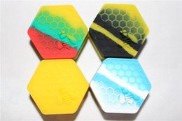 $enCountryForm.capitalKeyWord NZ - 26ml Quality honeybee hexagon Silicone Container Jars Silicone Container For Oil Crumble Honey Wax Silicone Jars Dab Wax Container