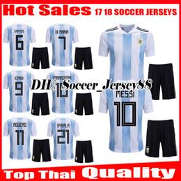 New 2018 MESSI World Cup Argentina Kit AGUERO Soccer Jersey 18 19 DI MARIA  KOMPANY DYBALA Higuain Home jerseys uniforms football shirts fb81ee6e5