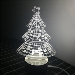 $enCountryForm.capitalKeyWord Australia - Creative 3D stereo table lamp acrylic creative mirror lamp wooden base USB socket LED lamp