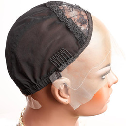 Chinese  Bella Hair Professional Lace Front Wig Caps for Making Wig with Adjustable Straps and Combs Swiss Lace Black Medium Size manufacturers