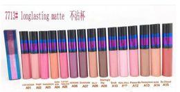 $enCountryForm.capitalKeyWord Canada - Brand Makeup Lustre Matte Liquid Lipstick Lipgloss Non-stick Lip Cosmestics Waterproof 15 Colors For Choose 3g Free Shipping