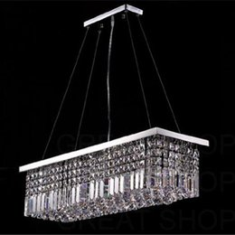 rustic pendants 2019 - Length 100cm Modern Crystal Color LED Pendant Light Ceiling Lamp Chandelier Lighting Freeshipping discount rustic pendan