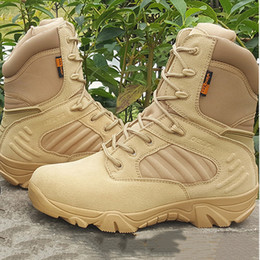 2017 New Hot Sale Army Male Combat Tactical Desert Boots Winter Outdoor Hiking Boots Tactical Duty Shoes on Sale
