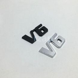 $enCountryForm.capitalKeyWord Canada - 20pcs lot 3D Metal Rear Trunk Lid Emblem Decal Logo Badge Chrome V6 Car Fender Nameplate Sticker