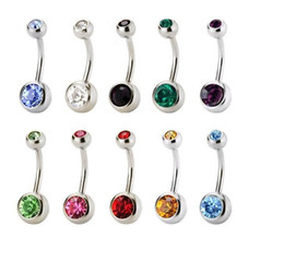 $enCountryForm.capitalKeyWord Canada - 10 colors, European and American stainless steel drilling, navel nail, titanium steel navel ring, color navel buttons, piercing ornaments.