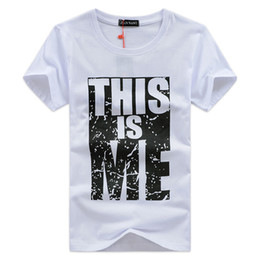 Barato Mais T-shirts-T Shirt Men Summer Cotton Short Sleeve Top Letter Printed Tees Plus Size 4XL 5XL Fashion New T-Shirts Men's Clothing Slim camisa masculinas