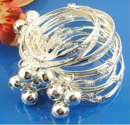 $enCountryForm.capitalKeyWord Australia - 2pcs pair Hot sale S925 silver White copper Long life China knot Bells baby bracelet children bangle children baby child jewelry drop ship