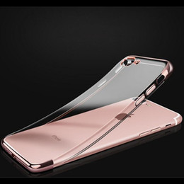 Crystal Clear Phone Cases NZ - Soft TPU Electroplating Ultral Thin Hyaline Cell Phone Case Clear Plating Crystal Phone Back Cover For Iphone 7 7plus Iphone 5 5s 6s 6plus