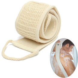 $enCountryForm.capitalKeyWord Canada - 1PC Natural Soft Exfoliating Loofah Back Strap Bath Shower Unisex Massage Spa Scrubber Sponge Body Skin Health Cleaning Tool