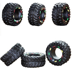 cartoon tires NZ - puppies dog christmas toy rubber sound dog toy squeakers wholesale chew tire dog cat teething toys puppy play biting toy