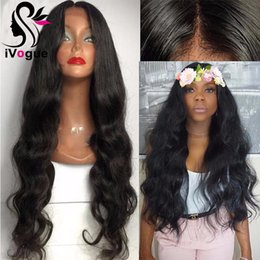 Body Wave Long Hair Canada - Long Body Wave Virgin Peruvian Human Hair Full Lace Wig Glueless Lace Front Wigs Wavy Human Hair Wig With Baby Hair