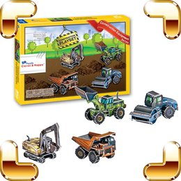 Diy Toys Truck Car Canada - New DIY Gift Tool Car Series 3D Puzzles Model Construction Equipment Series Educational Learning Toys DIY Truck Decoration Mini Car Puzzle