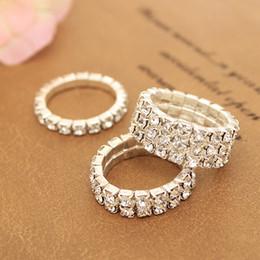 Fashionable Lovely National white jewelery wedding rings for women crystal  Elastic Multi-row toe rings factory wholesale 12pcs lot b2fb27b3ac18