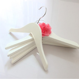Towels For Dogs NZ - Luxury Solid Wooden Hanger with Anti-slip Without Cross BarWhite Color for Children Kids Babies Pegs Dogs 26cm for Home Office Closet Shop