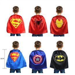 Costume Cosplay Héroïne Pas Cher-Enfants Capes Super Héros Cape Costume Super Héros pour Enfants Capes Spiderman Batman Cosplay pour enfants Capes Super Héros Costume 50 * 70 931 5