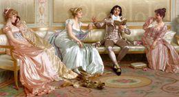 $enCountryForm.capitalKeyWord NZ - Palace Figure Paintings High Quality Giclee Print on Canvas Home Decor GT16 (5)