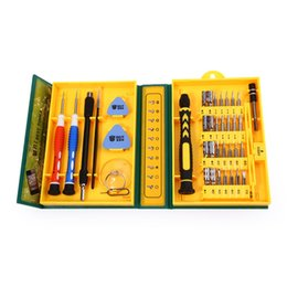 Chinese  Wholesale-38 in 1 Precision Multipurpose Screwdriver Set Repair Opening Tool Kit Fix with Box Case For iPhone  laptop  smartphone  watch manufacturers