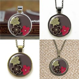 Cherry blossoms neCklaCe online shopping - 10pcs Sakura Cherry Blossom Japanese Style Flower Pendant Necklace keyring bookmark cufflink earring bracelet