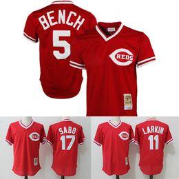 7f074cb567b cincinnati reds mens majestic batting practice jersey  cincinnati reds  throwback jerseys 5 johnny bench 11 barry larkin 17 chris sabo mitchell ness  1983