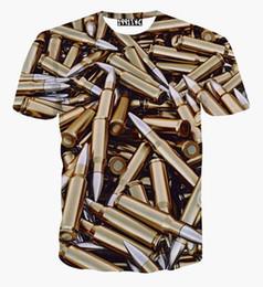 $enCountryForm.capitalKeyWord UK - New Summer men Fashion Golden Vintage Harajuku Style Bullet Pattern 3D Print T Shirt Summer Novelty Top tshirt casual t shirt
