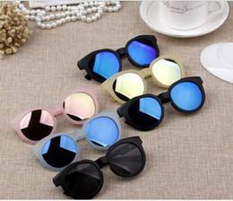 bright sunglasses 2019 - NEW Candy color scrub Korean children's sunglasses bright reflective lens anti-UV sunglasses baby sunglasses D023 d