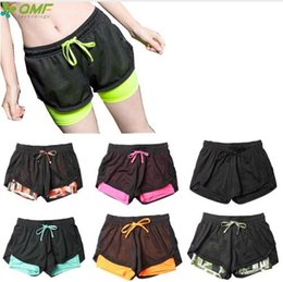 $enCountryForm.capitalKeyWord NZ - Dry Fit Women Fitness Gym Workout Running Shorts 2 In 1 Sport Yoga Sweat Shorts Skinny Compression Training Shorts Stretchy Slim