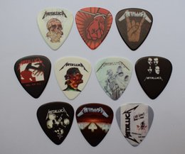 10pcs 0.71mm New Popular Front And Back Printing METALLICA Rock Band Musical Plectrums Guitar Picks on Sale