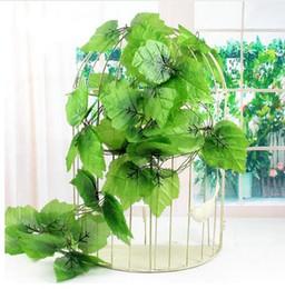 $enCountryForm.capitalKeyWord Canada - 2.4m Green Artificial Ivy Leaf Garland Plants Vine Fake Foliage Flowers Plastic Artificial Flower Rattan Evergreen Cirrus G505