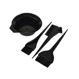 Toptan satış 4 Adet Kuaförlük Fırçalar Kase Combo Salon Saç Rengi Seti Boya Saç Tonu Aracı Set