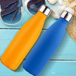 $enCountryForm.capitalKeyWord NZ - Multi Color Cup Vacuum Thermal Insulation Stainless Steel Water Bottle Leak Proof Resistance To Fall Kettle For Outdoor Sports 20fn R