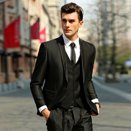 Trajes De Smoking Italianos Para Hombres Baratos-2017 Limited Male Formal Wears Italian Wedding Suits Hombres Slim Business Suit 3 Piezas Mens Novio Smokings (chaqueta + pantalones + chaleco)