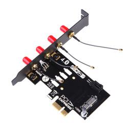 Freeshipping Installation facile Mini PCIE vers PCI-E 1X (36Pin) Adaptateur pour carte BCM94360CD BCM94331CD