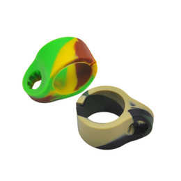 China Silicone Smoking Cigarette holder Tobacco Joint Holder Ring For regular size (7-8mm) Cigarette mix Colored Smoking accessories cheap joints holder suppliers