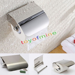 Wholesale  Bathroom Stainless Steel Toilet Paper Holder Bathroom Accessories  Chrome Paper Roller Holder Tissue Box Wall Mounted Holder Discount Bathroom  ...
