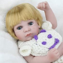 $enCountryForm.capitalKeyWord Canada - 11'' Silicone Newborn Baby girl doll Fashion Adorable New born doll toy Lifelike babies fake doll waterproof reborn dolls