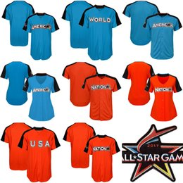376d5b90d ... Majestic Home Run Derby Men Women Youth National League American  LeagueTeam World Orange 2017 All-Star Game Personalized Authentic ...