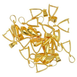 $enCountryForm.capitalKeyWord NZ - 100 pcs Gold plated Pendant Pinch bails 14mm M2646