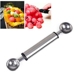 $enCountryForm.capitalKeyWord Canada - Stainless Steel Cook Double Melon Baller Ice Cream Scoop Fruit Spoon E00190 ONET